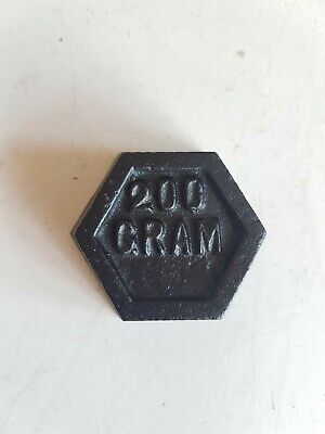 £4.99 • Buy Single Vintage Metric Cast Iron Hexagonal Weights 200g For Balanced Scales Home