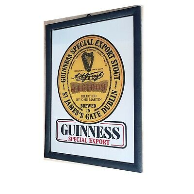 £12.95 • Buy GUINNESS SPECIAL EXPORT PRINTED BAR MIRROR (22x31.5x1cm)