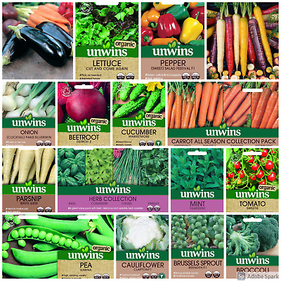 Unwins Vegetable Seeds Herb Tomato Pea And Runner Bean Seeds Choose Your Pack • 2.99£