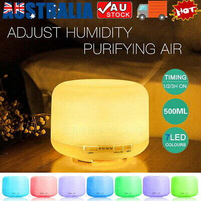 AU21.59 • Buy 500ml Essential Air Mist Oil Aroma Diffuser Ultrasonic Humidifier Aromatherapy