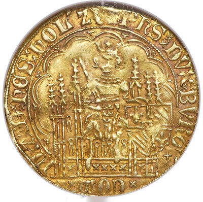 AU3942.01 • Buy 1419-67 AD Philippe Le Bon Gold Chaise D'Or Belgium NGC VF-30 GOLDEN RED PATINA