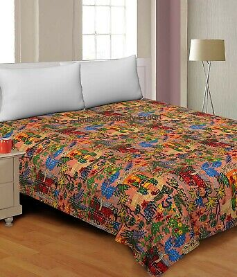 £19.99 • Buy Frida Kahlo Printed Cotton Quilted Blanket Indian Twin Handmade Bedspread Kantha