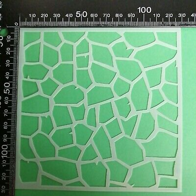£2.25 • Buy Crazy Paving Texture Stencil Embossing Scrapbooking Cardmaking Ink Airbrush #2