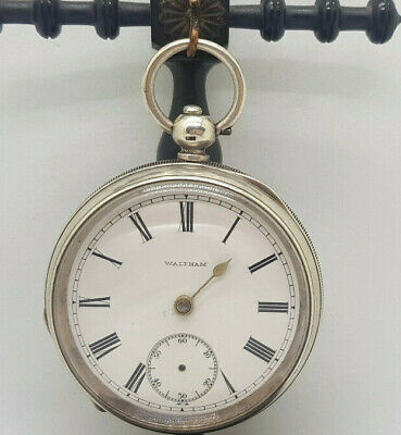 £85 • Buy Antique Solid Silver Waltham Pocket Watch 53 Mm. Spare Only
