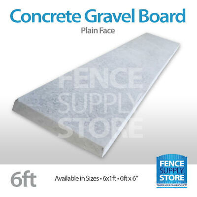 £14.99 • Buy Garden Fencing Concrete Gravel Boards, Rock Face- Plain, 1ft And 6inch Stocked