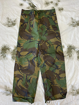 £17.99 • Buy British Army Surplus DPM Woodland Camo PVC Waterproof Over Trousers - Used