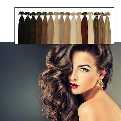 £26.99 • Buy Glossy Drawn Deluxe Human Hair Extensions Fashion All Colors Nail U Tip Hair