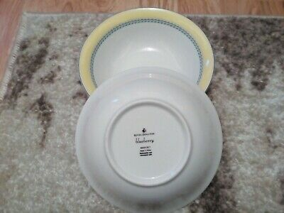 £8 • Buy Royal Doulton Blueberry Cereal Bowls 2x