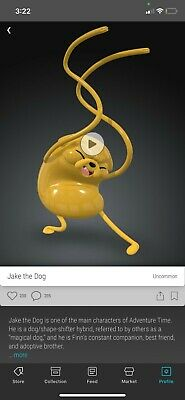 $181.02 • Buy VeVe NFT- Jake The Dog First Appearance - Adventure Time - SOLD OUT