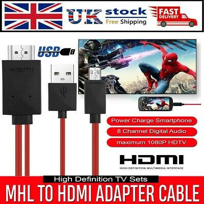 AU8.10 • Buy MHL Micro USB To HDMI 1080P HD TV Cable Adapter For Android Phones Samsung