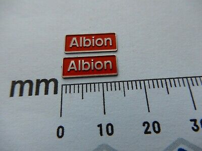 AU17.83 • Buy 47509 Albion. O Gauge Etched 7mm Scale Plates. Self Adhesive. Red B/g