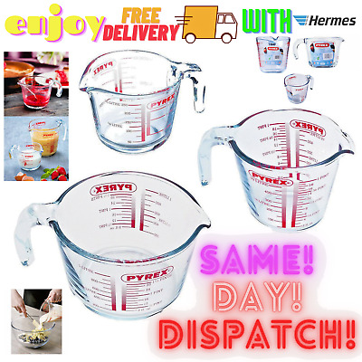£13.99 • Buy PYREX Clear Measuring - Mixing Jug - Kitchen-FREE DELIVERY NEW, 1L, 1/2L,1/4 Set