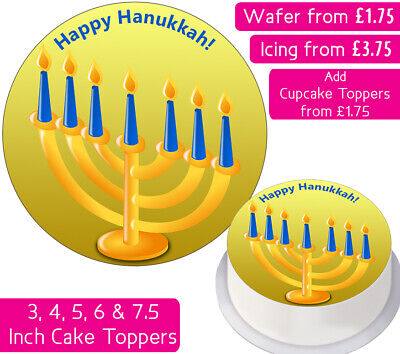 £1.75 • Buy Hanukkah Edible Wafer & Icing Cake Toppers Decoration Party Holiday Religious