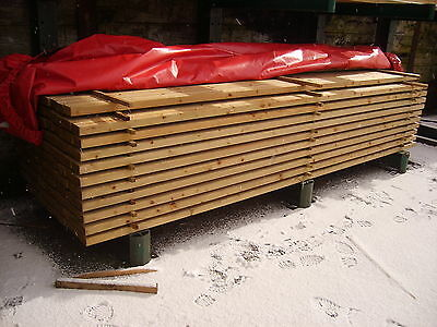 £11.70 • Buy 4 X 2 C16 TREATED STRUCTURAL TIMBER 3.6M 100 X 50