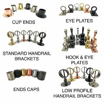 £13.50 • Buy Decking Rope Fittings Cup Ends, Hooks, Eye Plates, End Caps, Handrail Brackets