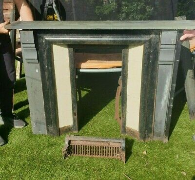 £155 • Buy Reclaimed Fire Surround And Fire, Slate In Need Of A Clean And Restoration