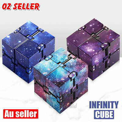 AU6.60 • Buy Infinity Cube Fidget Stress Relief Hand Toys For Adult Kid Anxiety Kill Time ADD