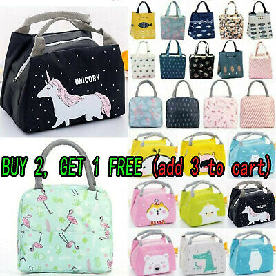 AU14.24 • Buy Portable Women Kids Insulated Lunch Bag Box Picnic Tote Cooler Picnic Travel AU