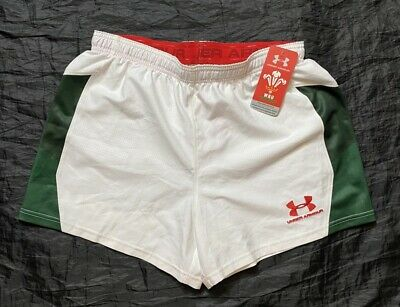 £39 • Buy WALES RUGBY UNION Home Shorts UNDER ARMOUR CYMRU NEW With TAGS Adult SIZE L