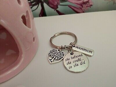 £2 • Buy She Believed She Could So She Did Keyring With A Warrior Charm & Tree Of Life