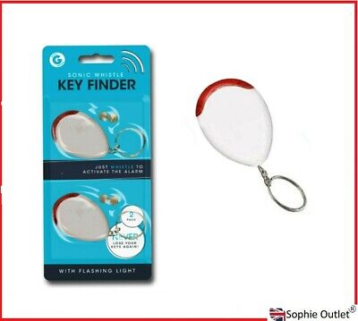 £2.50 • Buy Lost Key Finder With Battery Whistle Flashing Beeping Locator Remote Chain LED