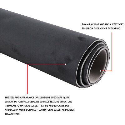 $47.96 • Buy For Honda Civic 1996-2011 Headliner Replace Fabric Charcoal Suede Material Foam