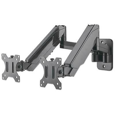 Manhattan TV & Monitor Mount Wall Full Motion (Gas Spring) 2 Screens Screen S... • 78.77£
