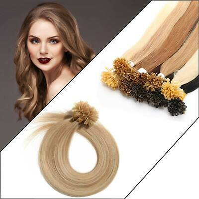 £19.99 • Buy 8A Various Colors Size Remy Human Hair Extensions Straight Nail/U Tip 200Pcs UK