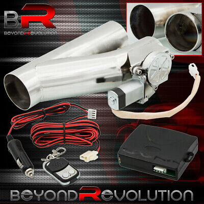 $86.99 • Buy 2.5  63mm Electric Exhaust Catback Downpipe Cutout Valve System+Remote Control