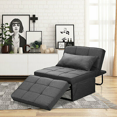 £154.99 • Buy Convertible Chair Sofa Grey Folding Modern Guest Bed For Small Room Apartment UK