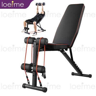 £42.99 • Buy Adjustable Weight Bench Fitness Home Training Gym Utility Exercise Bench Press