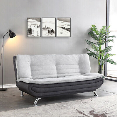 AU398.99 • Buy 3 Seater Sofa Bed Lounge Futon Couch Bed Fabric Recliner Furniture Home Sleeping