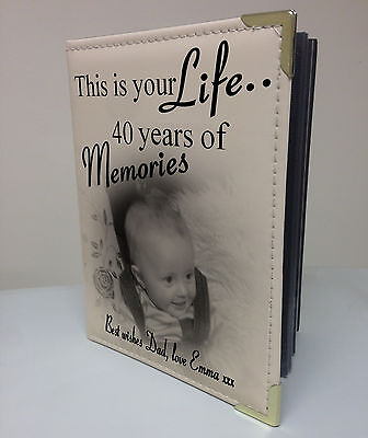 £15.99 • Buy  Personalised Photo Album, Memory Book, This Is Your Life, 40th Birthday Gift