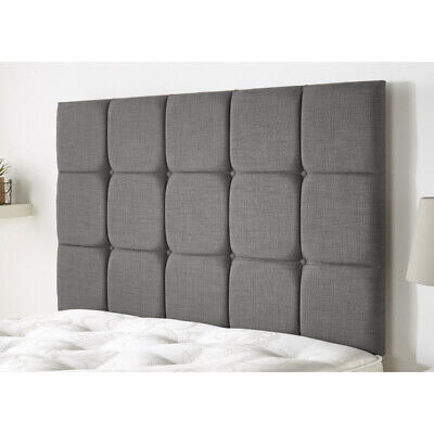 £54.99 • Buy Cubed Tall 30  Divan Bed Headboard Chenille & Plush Fabric 3ft 4ft 4ft6 5ft