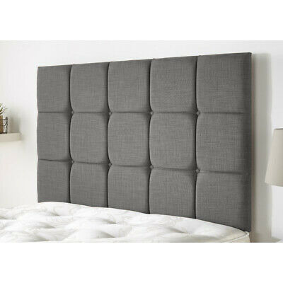 £47.99 • Buy Cubed Tall 30  Divan Bed Headboard Chenille & Plush Fabric 3ft 4ft 4ft6 5ft