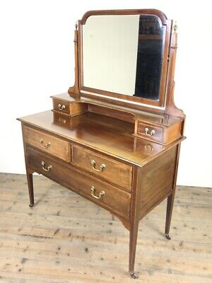 £395 • Buy Edwardian Inlaid Mahogany Dressing Table (M-1758) - FREE DELIVERY*