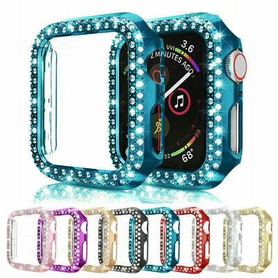 AU11.39 • Buy Diamond Protective Bumper Hard Case Cover For Apple Watch Series 5/4/3/2 38/44mm
