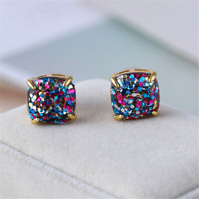 $ CDN24.18 • Buy Kate Spade Multi Color Square Stud Bling Beauty Earrings With Dust Bag