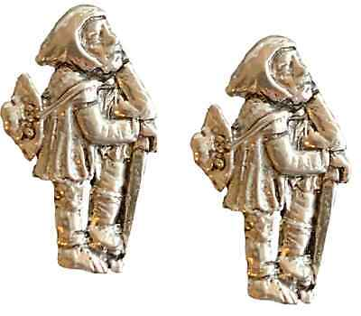 £11.99 • Buy 2 X Medieval Pilgrim Handcrafted From English Pewter Pin Badges-PAG