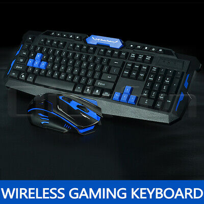 AU27.89 • Buy 2.4G Wireless Gaming Keyboard And Mouse Set Bundle Computer PC Multimedia Gamer