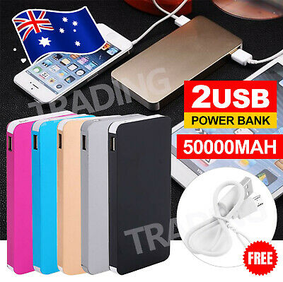 AU15.95 • Buy External Power Bank 50000mAh  For Mobile Phone Dual USB Portable Battery Charger