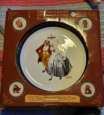 $ CDN1.24 • Buy 4pc Norman Rockwell Saturday Evening Post Collector Plates
