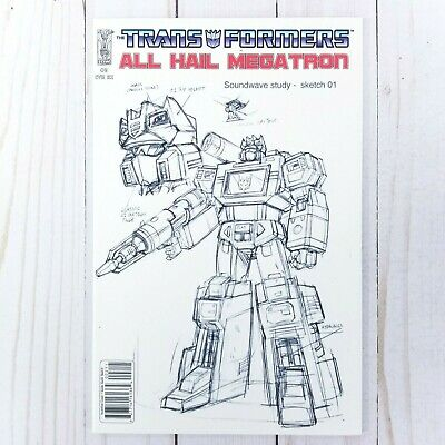 £12.21 • Buy Transformers All Hail Megatron #2C, IDW 2008, Guido Guidi Sketch Variant Cover
