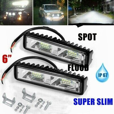 AU15.99 • Buy 2x 6inch CREE LED Light Bar Side Shooter Pods Combo Beam Work Driving OffRoad