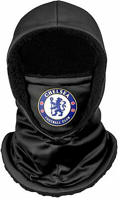 Forever Collectibles UK FOOTBALL TEAM CHELSEA F.C. BLACK HOODED SNOOD SCARF • 16.66£