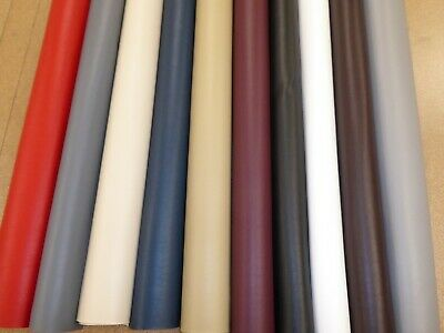 £1.10 • Buy Leatherette Vinyl Faux Leather Upholstery Fabric (10 Colours) Fire Retardant
