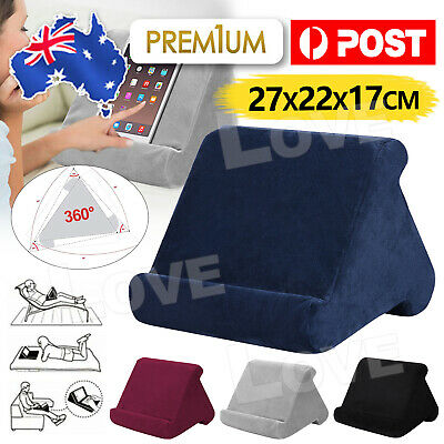 AU18.95 • Buy Tablet Pillow Stands For IPad Book Reader Holder Rest Laps Reading Soft Cushion