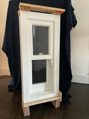 New Wooden Double Glazed Sash Window With Gold Furniture With Brass Fittings • 500£