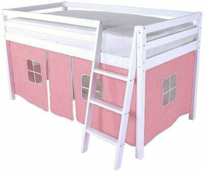 Girls Single Bed Pink Curtain Set For Cabin Bunk Bedtent Metal & Wooden Beds • 34.99£