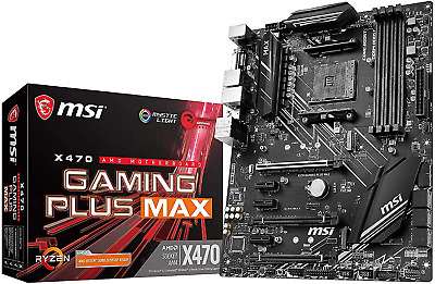 AU143.97 • Buy MSI X470 GAMING PLUS MAX Motherboard ATX, AM4, DDR4, LAN, USB 3.2 Gen2, M.2, MYS